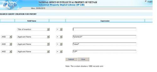 vietnam patent search
